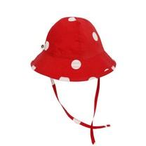 Mini Rodini Dot sun hat red