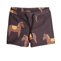 Mini Rodini Horse swimpants brown
