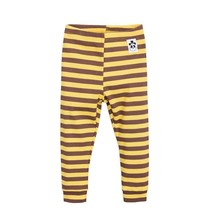 Mini Rodini Stripe rib leggings yellow