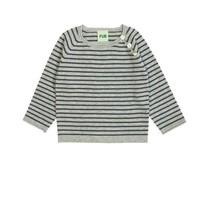 FUB Baby striped blouse grey