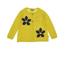 Kidscase Faith flower cardigan okergeel