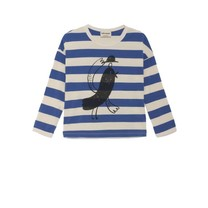 Bobo Choses Shirt Bird blauwgestreept