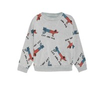 Bobo Choses Sweater Cats and Dogs grijs