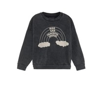 Bobo Choses Sweater Rainbow zwart