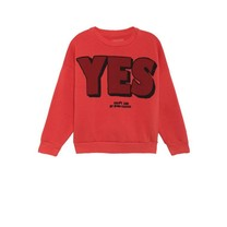 Bobo Choses Sweater Yes no rood