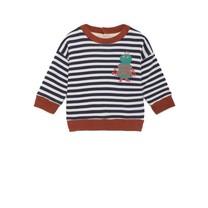 Bobo Choses Baby Sweater Mr Green zwartgestreept