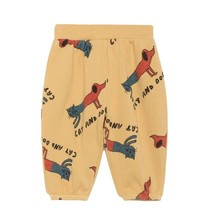 Bobo Choses Baby Broek Cats and Dogs geel
