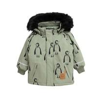 Mini Rodini Jas K2 parka pinguïns groen
