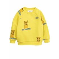 Mini Rodini Sweater Cat campus geel