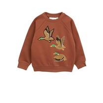 Mini Rodini Sweater Ducks bruin