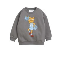 Mini Rodini Sweater Cheercat grijs