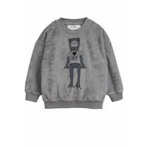 Mini Rodini Sweater Frog grijs