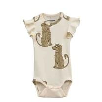 Mini Rodini Baby romper Spaniel wing beige