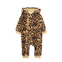 Mini Rodini Baby onesie Leopard velour
