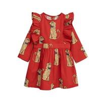 Mini Rodini Jurk Spaniels rood