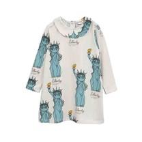 Mini Rodini Jurk Liberty grijs