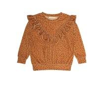 Soft Gallery Meisjes sweater Dotties goudgeel