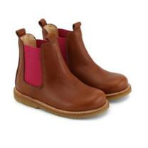 Angulus Chelsea boots cognac/pink