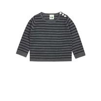FUB Striped babyshirt grijs blauw