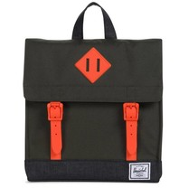 Herschel Survey Kids Forest Night/Black Crosshatch/Vermillion Orange