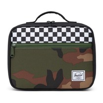 Herschel Pop Quiz Lunchbox Black/Checker/Woodland Camo