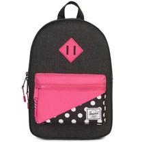 Herschel Heritage kids black dots - pink