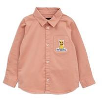 Mini Rodini Cat campus woven shirt pink