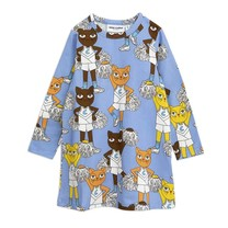 Mini Rodini Cheercats dress blue