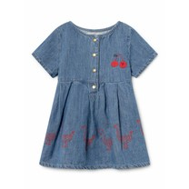 Bobo Choses Baby Jurk Geese denim
