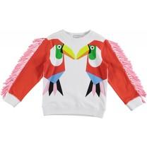 Stella McCartney kids Meisjes Sweatshirt Toucan Fringed