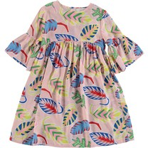 Stella McCartney kids Jurk Palm Leaf