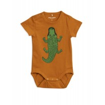 Mini Rodini Baby Romper Crocco Brown