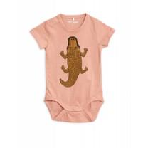 Mini Rodini Baby Romper Crocco Pink
