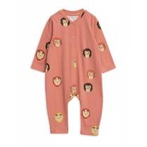 Mini Rodini Baby Boxpak Monkeys Pink
