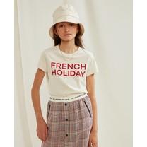 Les Coyotes de Paris Meisjes T-Shirt Remi Cream