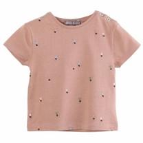 Emile et Ida Baby T shirt Terracotta Fleurette