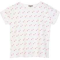 Emile et Ida Meisjes T shirt Ecru Pommes Rouges