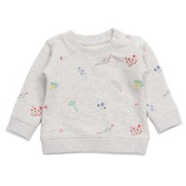 Bonton Baby sweater flower embroidered
