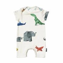 Snurk Paper Zoo Playsuit Babies