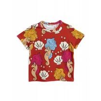 Mini Rodini Shirt Seahorse Red