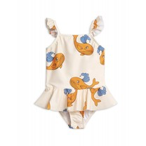 Mini Rodini Badpak Whale Skirt Orange