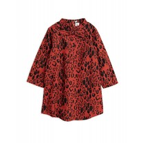 Mini Rodini Jurk Leopard Bow Red