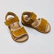 Sandaal kinderen met klittenbandsluiting oker