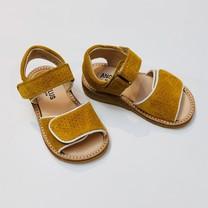Angulus kinderschoenen Sandaal kinderen met klittenbandsluiting oker
