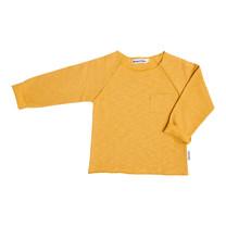 Broer & Zus Baby sweater pocket mustard