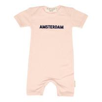 Broer & Zus baby body Amsterdam pink