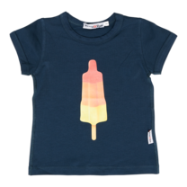 Broer & Zus T-shirt blauwgrijs raketijsje
