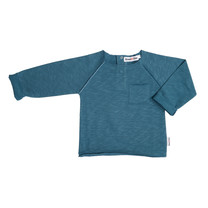 Broer & Zus Baby sweater petrol