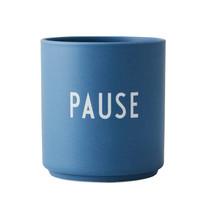 Design Letters Blauwe kop PAUSE