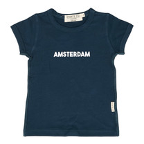 Broer & Zus Jongens t-shirt navy Amsterdam